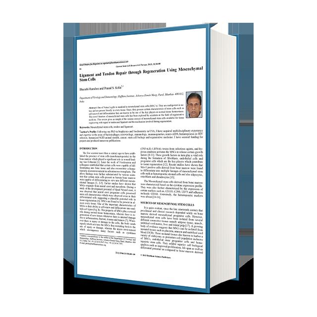 Ligament and Tendon repair using Mesenchymal Stem Cells